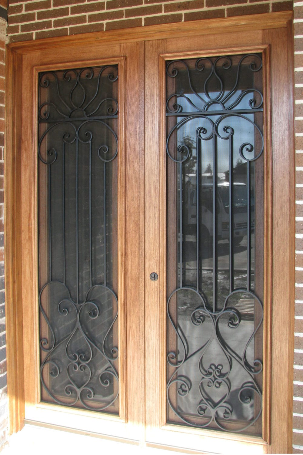 Wrought iron doors symphony 96 iron door front doors 17 for Steel front doors for sale