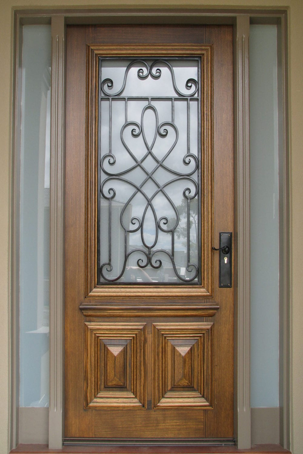 2 & Timber \u0026 wrought Iron doors add beauty elegance \u0026 security to your ... Pezcame.Com