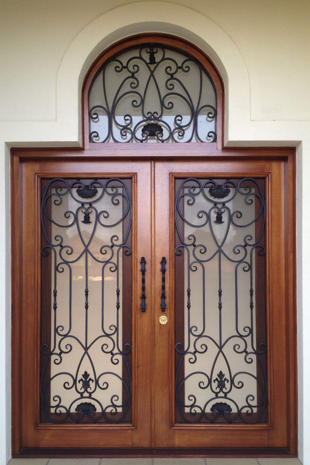 Our wrought iron and timber doors add refinement and timeless elegance to your new or existing home providing a talking point for new visitors. & Aussie Doors \u2013 Wrought Iron \u0026 Timber Designer Doors all over Australia.