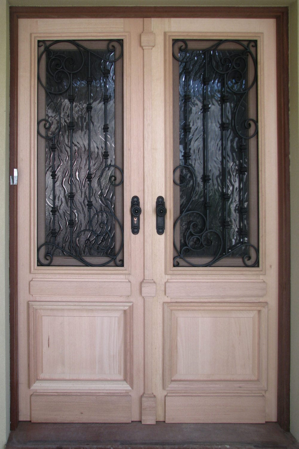 Timber Amp Wrought Iron Doors Add Beauty Elegance Amp Security
